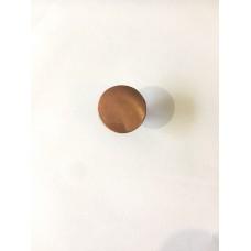 Ручка кнопка металлическая коричневая RO12AC (ящ 1000 уп 100)