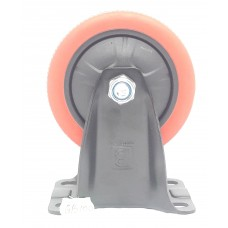 Колеса на площадке не поворотная красно-черная GB-100  (ЯЩИК 40(80КГ