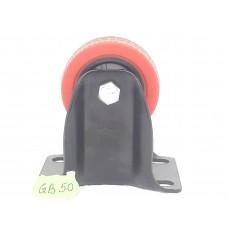 Колеса на площадке не поворотная красно-черная GB-50   (ЯЩИК 160(50КГ