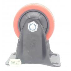 Колеса на площадке не поворотная красно-черная GB-75  (ЯЩИК 50(70КГ