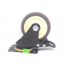 Колеса Колеса на площадке поворотная кремо-коричневая с тормозом AB-100  (ЯЩИК 40(110КГ
