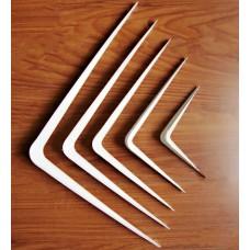 уголок металлический мебельный белый 6*8