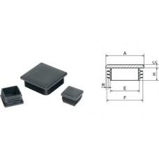 Заглушка для отверстий трубы квадратная чернаяZG 40+40 (50)