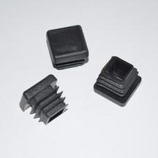 Заглушка для отверстий трубы квадратная черная ZG 30+30  (100)