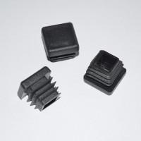 Заглушка для отверстий трубы квадратная черная ZG 120+120 (20)