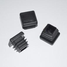 Заглушка для отверстий трубы квадратная черная ZG 100+100 (25)