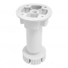 Ножка мебельная регулируемая  кухонная пластиковая белая турецкая 320-100мм