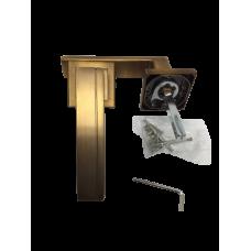 Ручка на розетке алюминий кофе RZ104MSF (ящ 20)