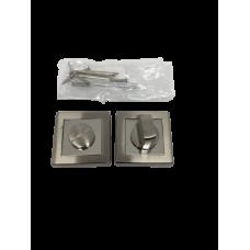 Накладки дверная под фиксатор квадратная сатин/хром NK100SNCP