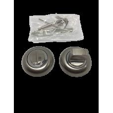 Накладки дверная под фиксатор круглая сатин/хром NK102SNCP
