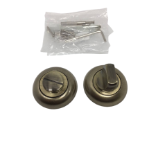 Накладки дверная под фиксатор круглая бронза NK102AB