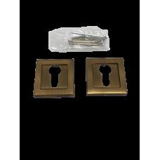 Накладки дверная под цилиндр квадратная кофе матовый NK101MSF