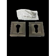 Накладки дверная под цилиндр квадратная бронза NK101AB
