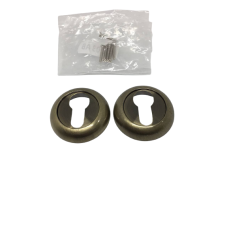 Накладки дверная под цилиндр круглая бронза NK103AB