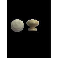 Ручка кнопка деревянная молочная RO20-1 (уп 100шт)