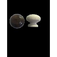 Ручка кнопка деревянная темно-коричневая  RO20-4 (уп 100шт)