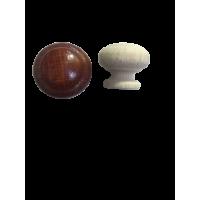 Ручка кнопка деревянная светло-коричневая  RO20-5 (уп 100шт)