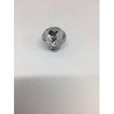 Ручка кнопка с камушкам хром (ящ 500) RO8606CP