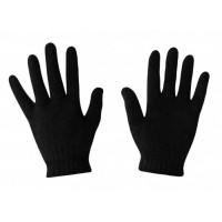 Перчатки зимние чёрные двух сторонние   №К-50 (300)