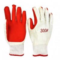 Перчатки хб красные залитая пена №А1554-1 12пар в уп. (360)