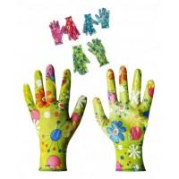 Перчатки нейлоновые женские 5цв 12пар в уп №П-145-2